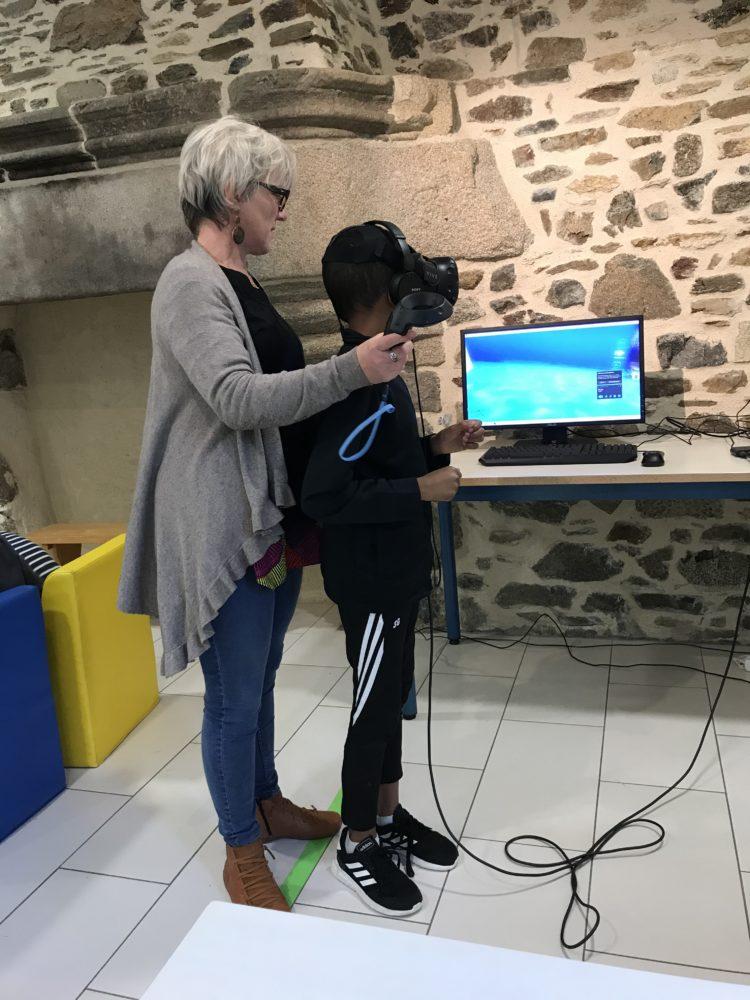 Virtualité à la bibliothèque!