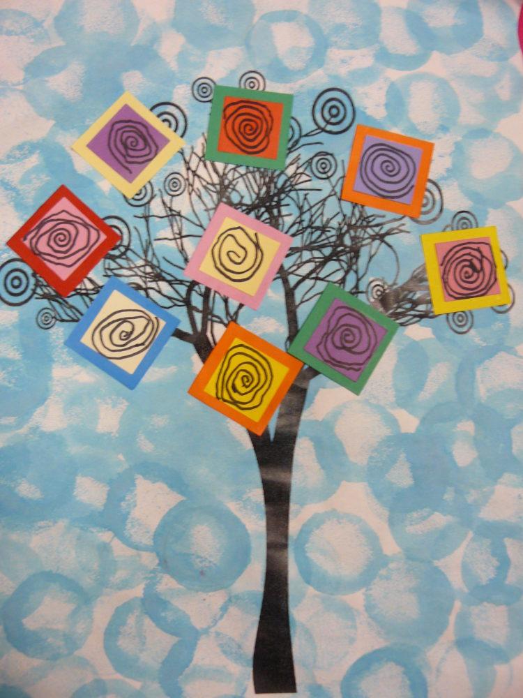 nos arbres en art visuel
